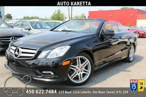 2011 MERCEDES E350 CONVERTIBLE, NAVIGATION, CAMERA, XENON, CUIR