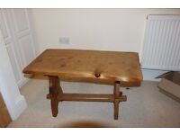 Quirky hand-crafted solid wood designer table with lots of character