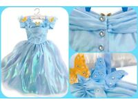 Girls Deluxe Cinderella Dress Disney Store age 7-8 years
