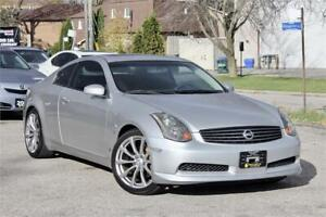 2004 Infiniti G35 Coupe 6 M/T - No Accidents - Low KM - V35