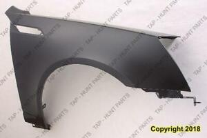 Fender Front Passenger Side (With Side Lamp Hole) Steel CAPA Cadillac CTS 2008-2015