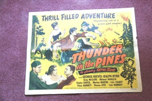 Thunder in the Pines original 1948 movie poster with George Reeves