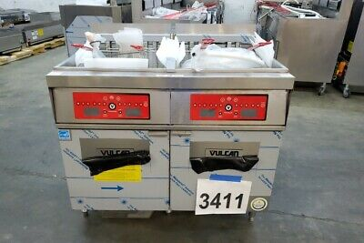 3411 New - Sd Vulcan Electric Double Deep 85 Lbs Fryers Filtration 2er85cf-208