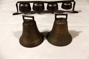 Vintage Wagon Bells with Belt Loop & cast iron bells w/Clappers Stratford Kitchener Area image 3