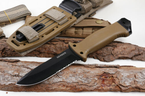 Gerber LMF II Infantry Tactical Knife-Fixed Blade, Brown ,With Sheath BRAND NEW