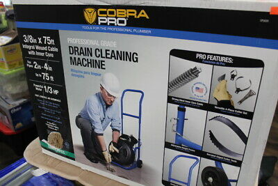 Cobra Pro Cp3020 38 X 75ft Drain Cleaning Machine For 2 - 4 Pipes