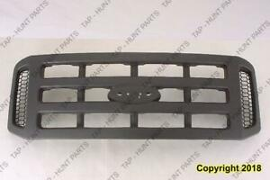 Grille Without Chrome Package Xl Model Dark Gray  Ford F250 F350 F450 F550 2005