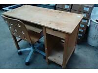 Solid pine wood desk