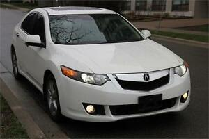 2010 Acura TSX Premium PEARL WHITE w/ LEATHER SUNROOF