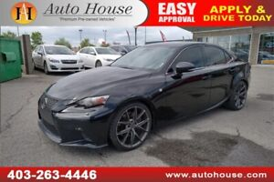 2015 LEXUS IS 350 F-SPORT NAVI BACK UP CAM HEATED & COOLED SEATS