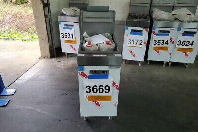 3669 - New Sd Vulcan 35-40 Lbs Capacity Deep Fryer Natural Gas Model1veg35m