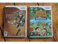 4 WII games, trap team + code for Wii U, Giant, Animal crossing, Links crossbow, swap team portal