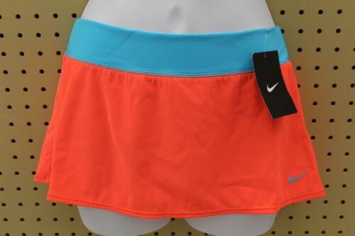 Nike Kids Girls Solid Swim Skirt (Bright Crimson/Blue, Size Large)