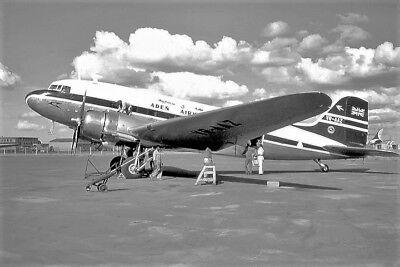 Douglas DC3 Dakota aircraft - Aden Airways- 6 x 4 Print
