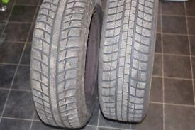 2 x 195/65/15 tyres M+S