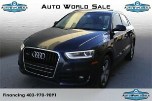 2015 AUDI Q3 |PREMIUM LEATHER| PANORAMIC SUNROOF@
