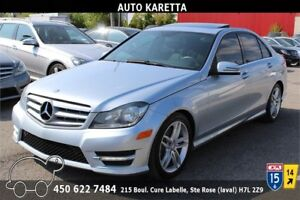 2013 MERCEDES-BENZ C300 4MATIC/AWD CLEAN CARPROOF, TOIT OUVRANT
