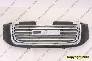 Grille Chrome/Black With Black Frame With Head Lamp Washer Hole GMC Envoy 2002-2009