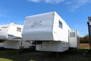 2000 SHASTA PHEONIX 287 5TH WHEEL WITH REAR KIT  FULL SIZE SLIDE