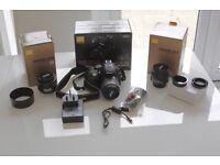 LIKE NEW Nikon D5300 DSLR camera PLUS 18-55mm, 35mm & 50mm lens