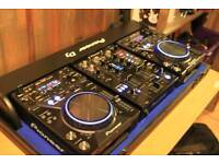 2 x Pioneer CDJ400K Limited Edition and 1x DJM400K Limited Edition in Pioneer Flight Case