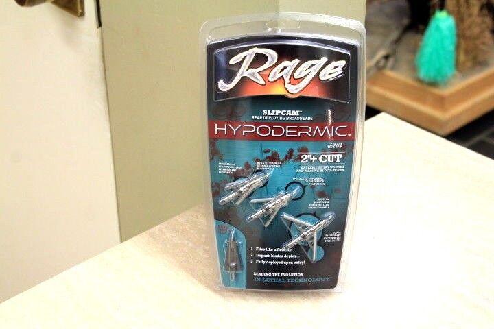 $28.00 - Rage R39100 Slipcam Hypodermic Broadheads Expandable Standard 100 Grain 2
