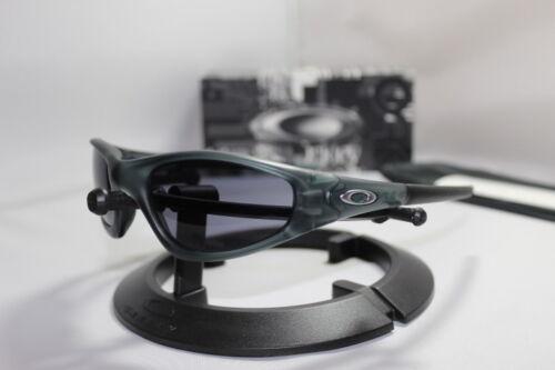New Oakley Straight Jacket 1.0 Sunglasses Crystal Black w/Grey Lens 30-988