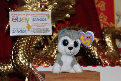 Ty Beanie Boos Key Clip Slush The Husky Dog 3  2010 Or 2011 Mwnmt Nice Gift