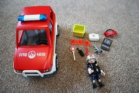 Plamobil Fire Chief Car - 4822 - VGC, Complete Set, Toy, Xmas Present