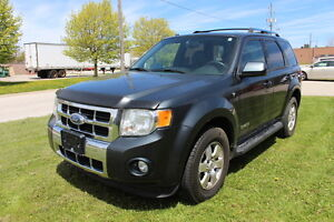 2008 Ford Escape Limited AWD, V6, leather, 137,000kms, Cert.