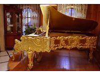 ORNATE GOLD GRAND PIANO