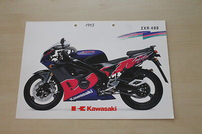 Automobilia Kawasaki Zxr 400 Prospekt 199? 193653
