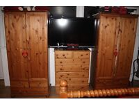 Wardrobes X 2 plus chest of drawers. Must Go !!!!