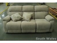 DFS EX DISPLAY NEWBURY THREE SEATER RECLINER SOFA WITH SCATTER CUSHIONS RRP £899