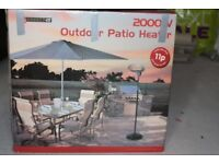 Garden Outdoor Quartz 2000W Electric Patio Heater Free Standing BBQ - Connect-It
