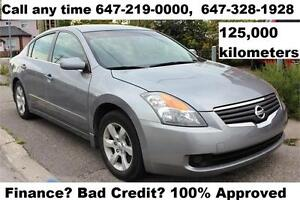 2007 Nissan Altima Leather NEWER BODY STYLE FINANCE 125,455 KM