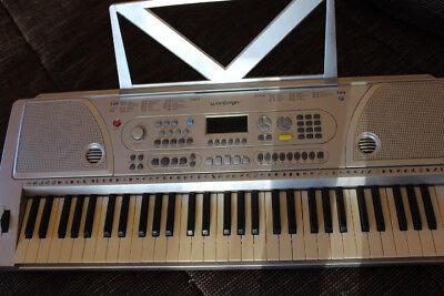 Musik Keyboard, 61 Tasten, grau, Weinberger, Viele Funktionen, Ladegerät