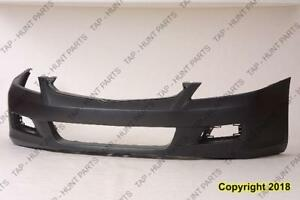 Bumper Front Primed Sedan/Hybrid Honda Accord 2006-2007