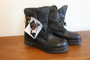 Brand new Gore-tex Steel toe black leather CSA Safety work boots