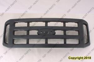 Grille Black Without Chrome Package Xl Model  Ford F250 F350 F450 F550 2006-2007