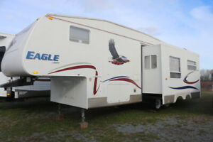 2005 JAYCO EAGLE 281 RLS 5TH WHEEL WITH FULL SIZE SLIDE OUT
