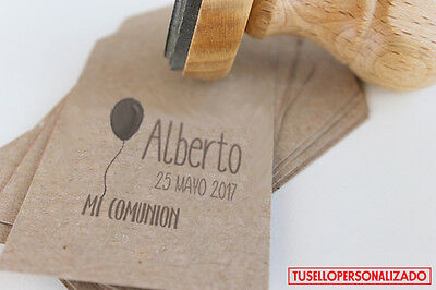 Sello para Comunion Caucho Personalizado Ideal Invitaciones,Tarjetas... Mod.07