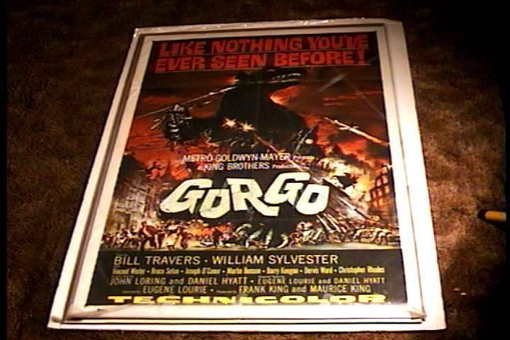 GORGO ORIG MOVIE POSTER 1960 HORROR GODZILLA MONSTER