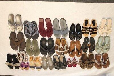 Lot Wholesale Used Shoes Rehab Resale Birkenstock Coach Pliner Chaco Ecco c^Pz
