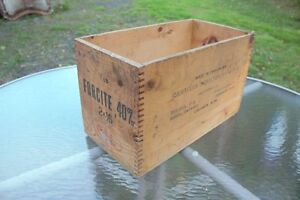 CIL High Explosive Wooden Ammo Box
