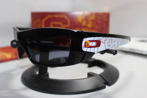 New Oakley USC Trojans Collegiate Fuel Cell Sunglasses Polished Black OO9096-33