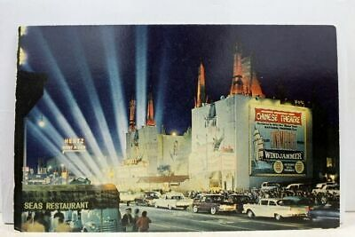 California CA Los Angeles Hollywood Grauman's Chinese Theater Postcard Old View Old California Postcards