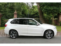 2014 BMW X5 M50d DIESEL 1 PREV OWN FBMWSH MINERAL WHITE AWESOME SPEC