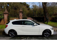62 PLATE BMW 118d DIESEL M SPORT 3 DOOR WHITE NEW MODEL LEATHER 56,551 MILES