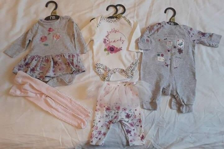 Mothercare x3 baby Girl newborn/first size outfits VGC